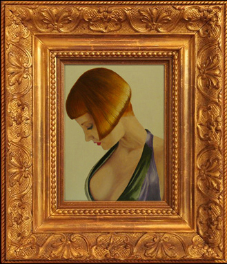 Framed Oil Painting of Domina Liza